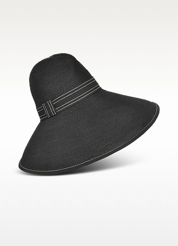 Soft Straw Hat with Grosgrain Black Band - Borsalino