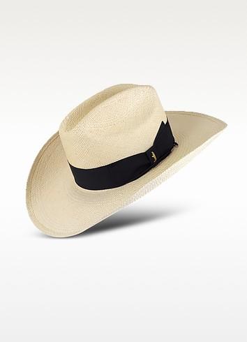 Panama Cowboy Hat with Black Band  - Borsalino