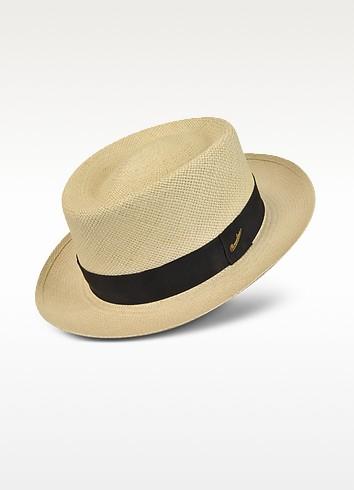 White Quito Panama Fedora Hat - Borsalino
