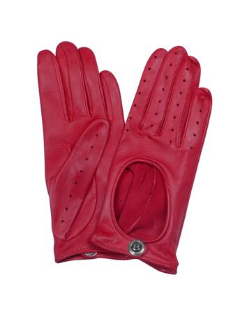 Lux-ID 209099 Dents Pittards Cabretta Red Driving Ladies Gloves