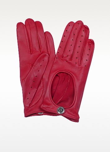 Dents Pittards Cabretta Red Driving Ladies Gloves - Bentley