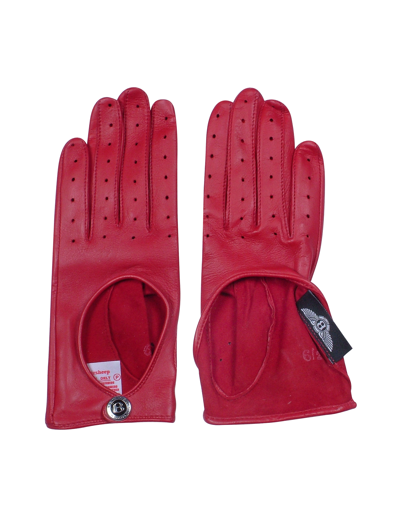 Dents Pittards Cabretta Red Driving Ladies Gloves от Forzieri.com INT