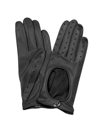 Lux-ID 209100 Dents Pittards Cabretta Black Driving Ladies Gloves