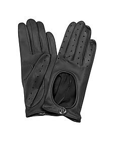 Dents Pittards Cabretta Black Driving Ladies Gloves - Bentley
