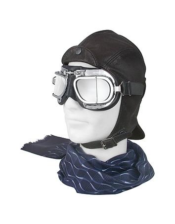 Steampunk Accessories Leather Flying Helmet $230.00 AT vintagedancer.com