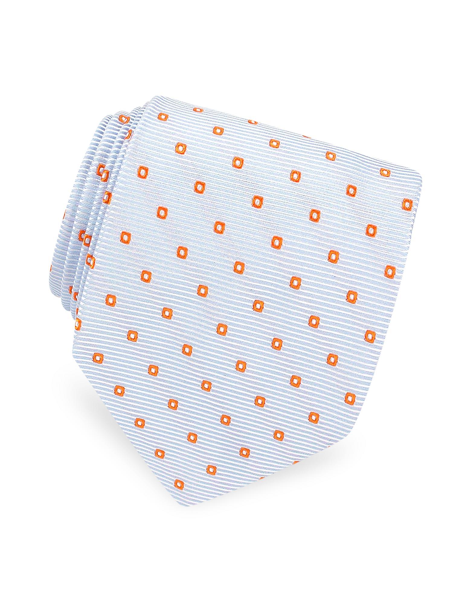Bagutta  Two-tone Mini Squares Geometric Woven Silk Tie