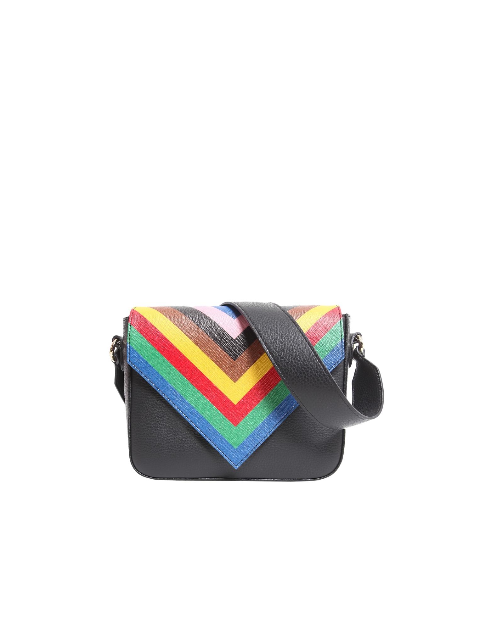 Sara Battaglia Designer Handbags, Tripe Crossbody Bag