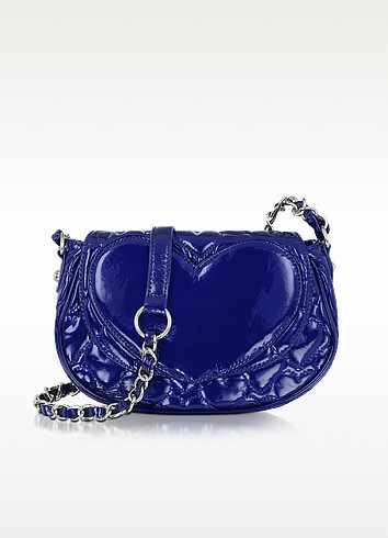 Mine & Yours Quilted Patent Eco Leather Crossbody - Betsey Johnson