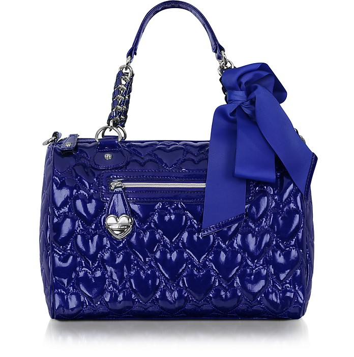 Mine & Yours Quilted Patent Eco Leather Satchel - Betsey Johnson
