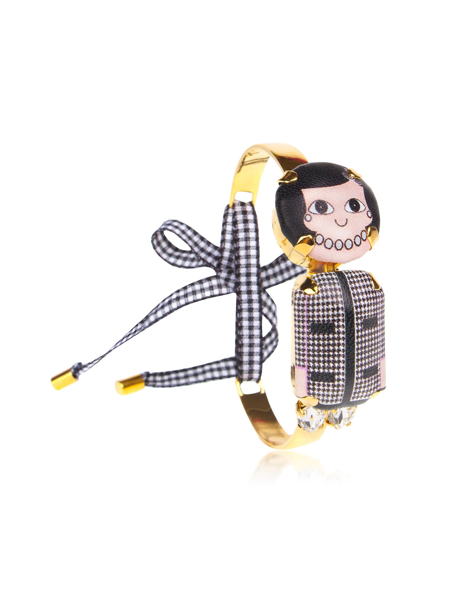 Coco Mini Chocker Bracelet, Black / white