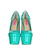 Ginger - Pumps aus Lackleder mit Plateau in wassergrün - Betsey Johnson