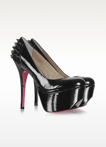 Ginger Black Patent Leather Platform Pumps - Betsey Johnson
