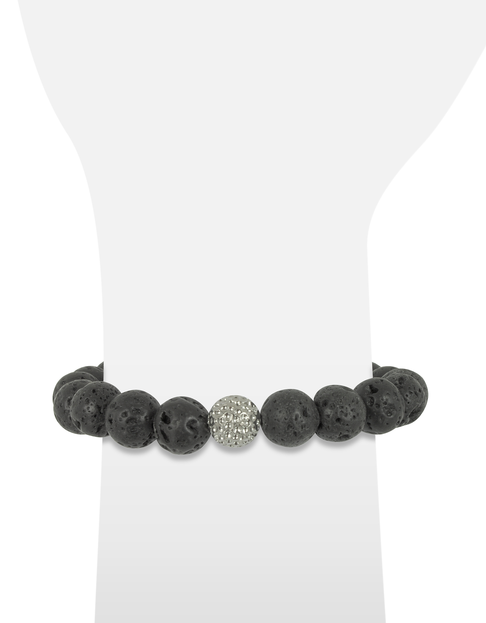 Lava Stone Men's Bracelet w/Brass Golf Ball от Forzieri.com INT