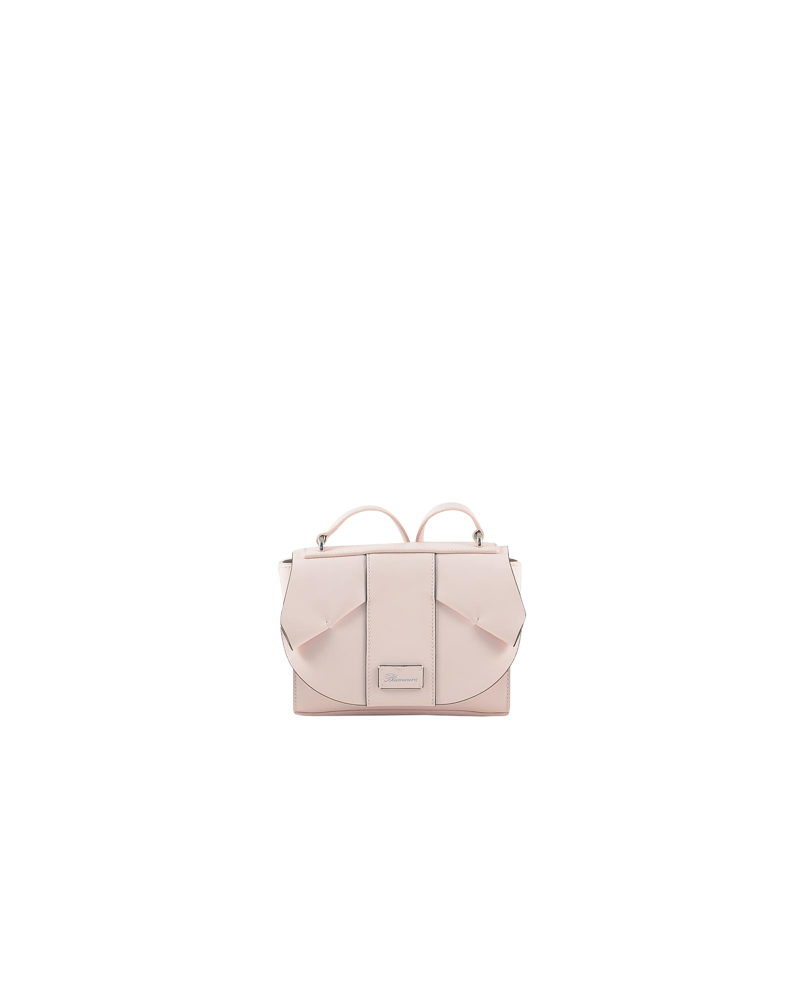 Blumarine Designer Handbags, Olivia Small Pink Leather Crossbody Bag
