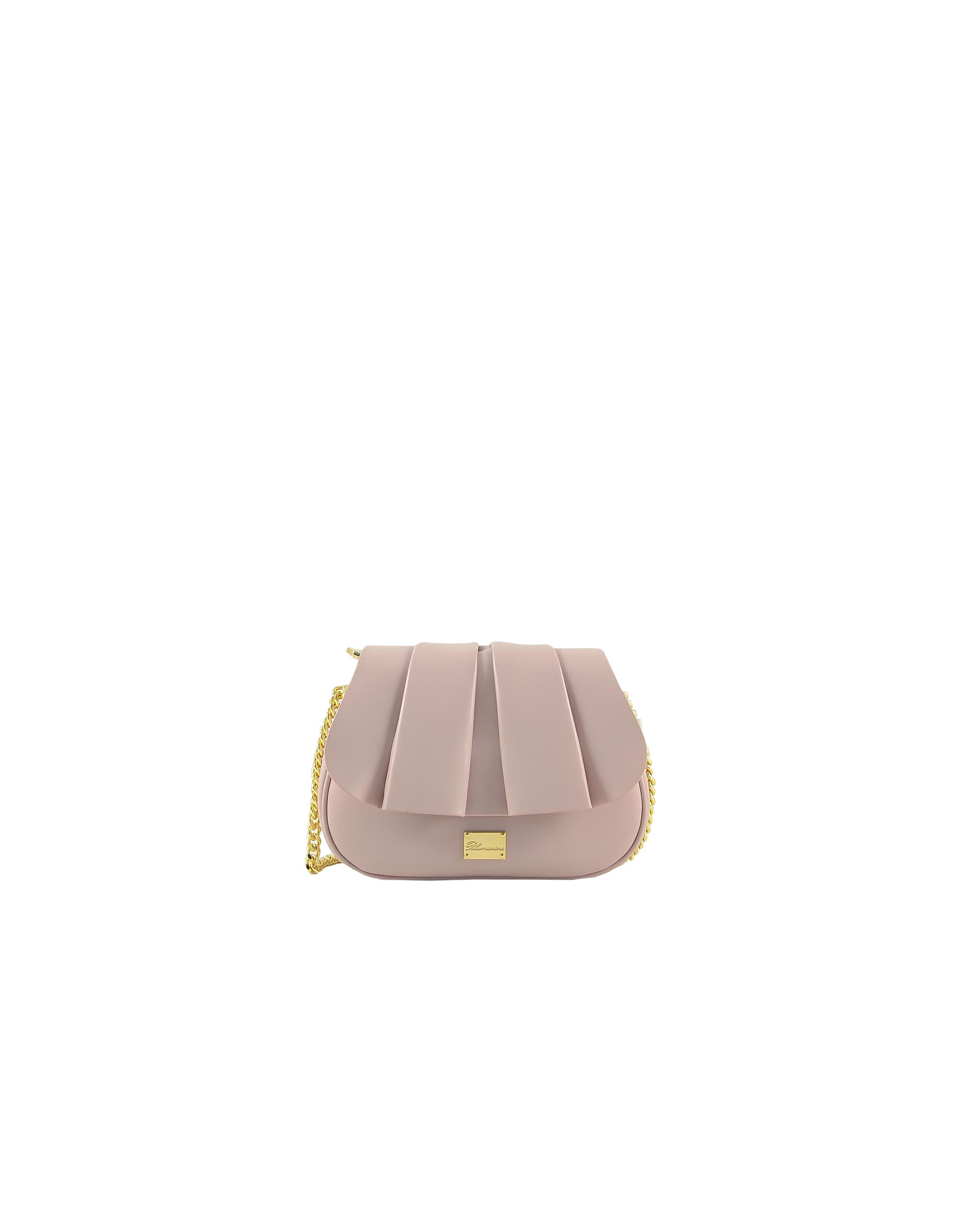 Blumarine Designer Handbags, Karen Light Pink Leather Shoulder Bag