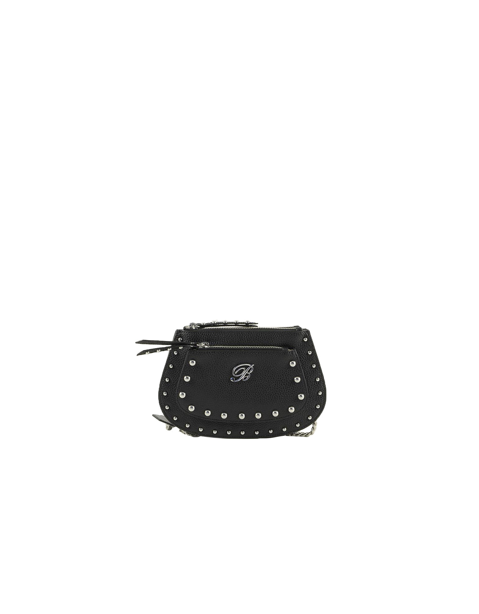 Blumarine Designer Handbags, Andrea Small Black Leather Shoulder Bag