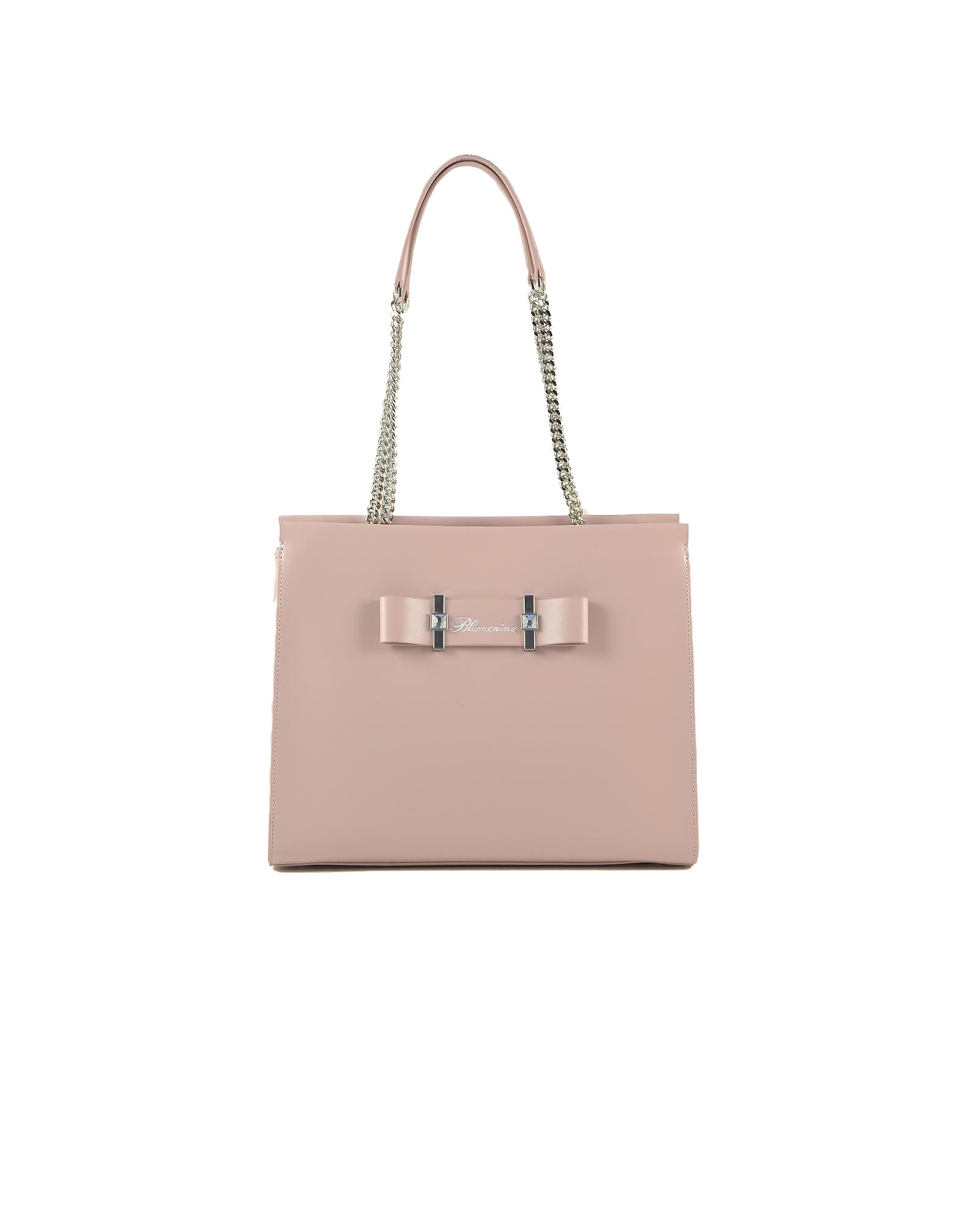 Blumarine Designer Handbags, Charlotte Light Pink Leather Tote Bag