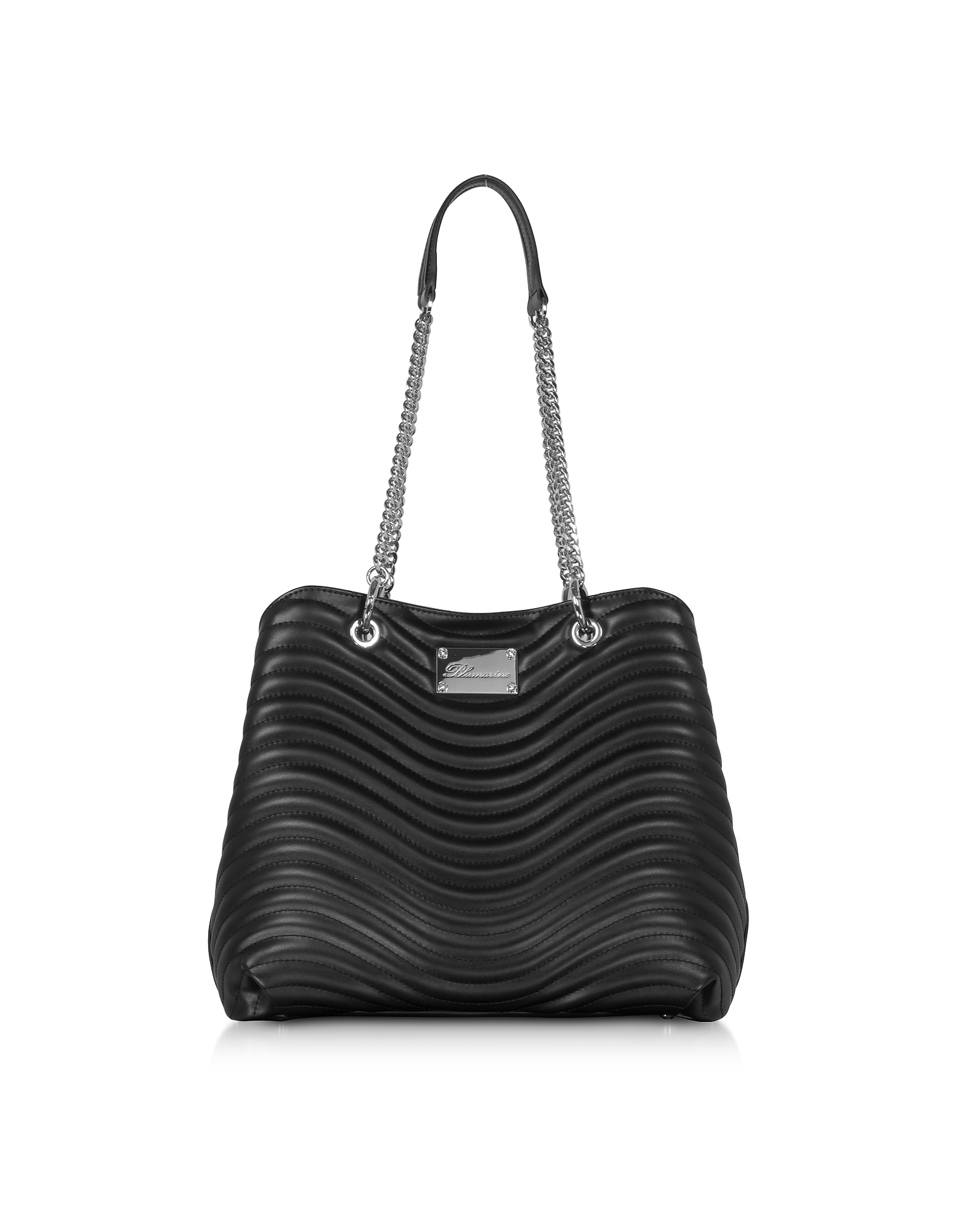 Blumarine Designer Handbags, Sophie Black Leather Tote Bag