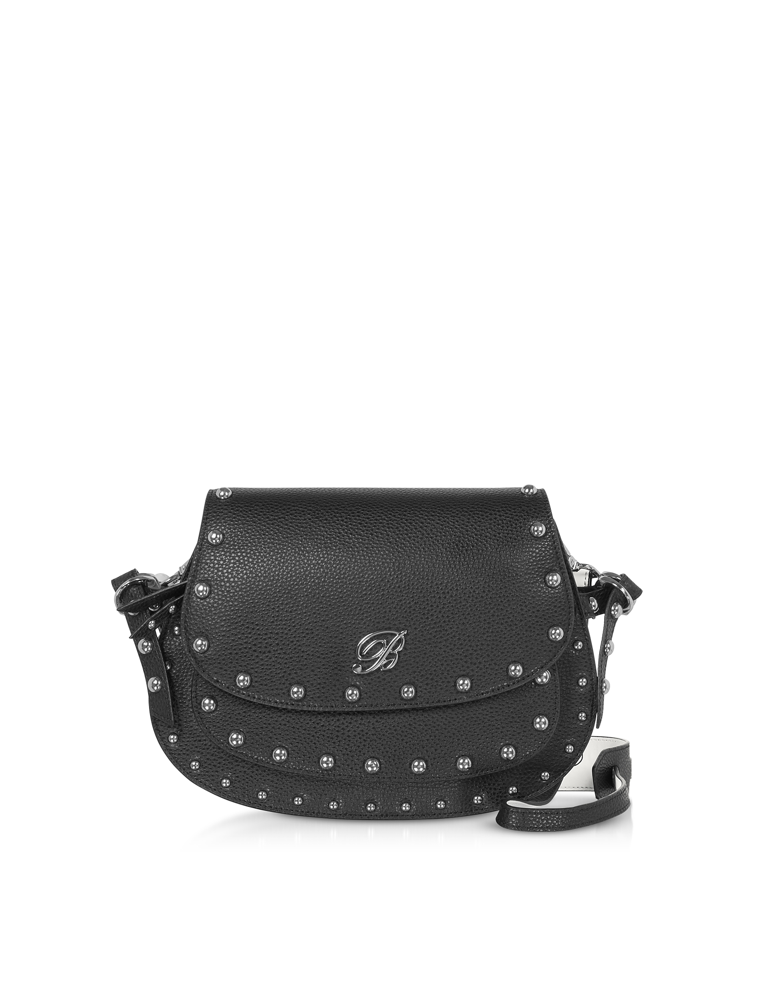 Blumarine Designer Handbags, Andrea Fluo Black Leather Crossbody Bag