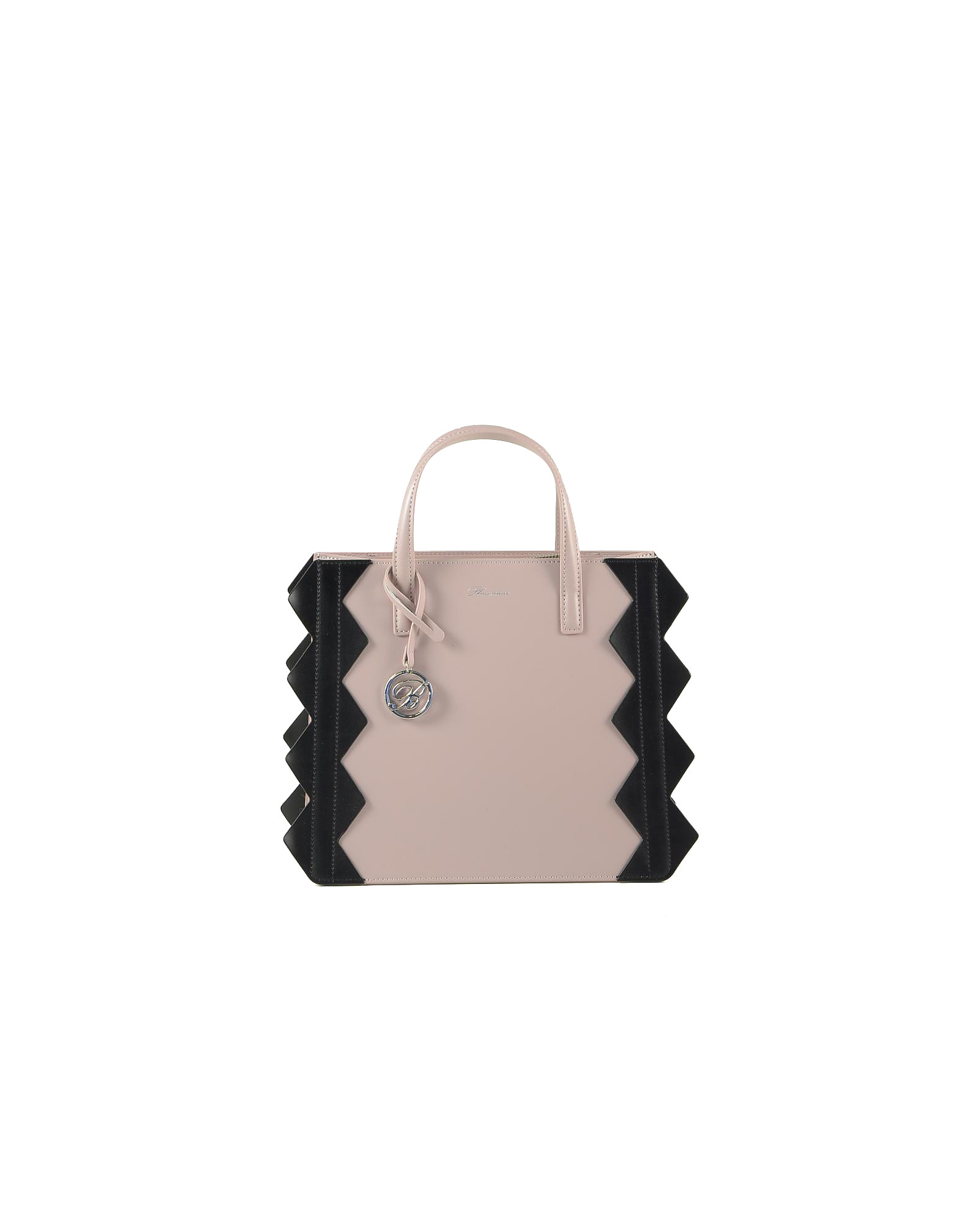 Blumarine Designer Handbags, Small Color Block Zig-Zag Tote Bag