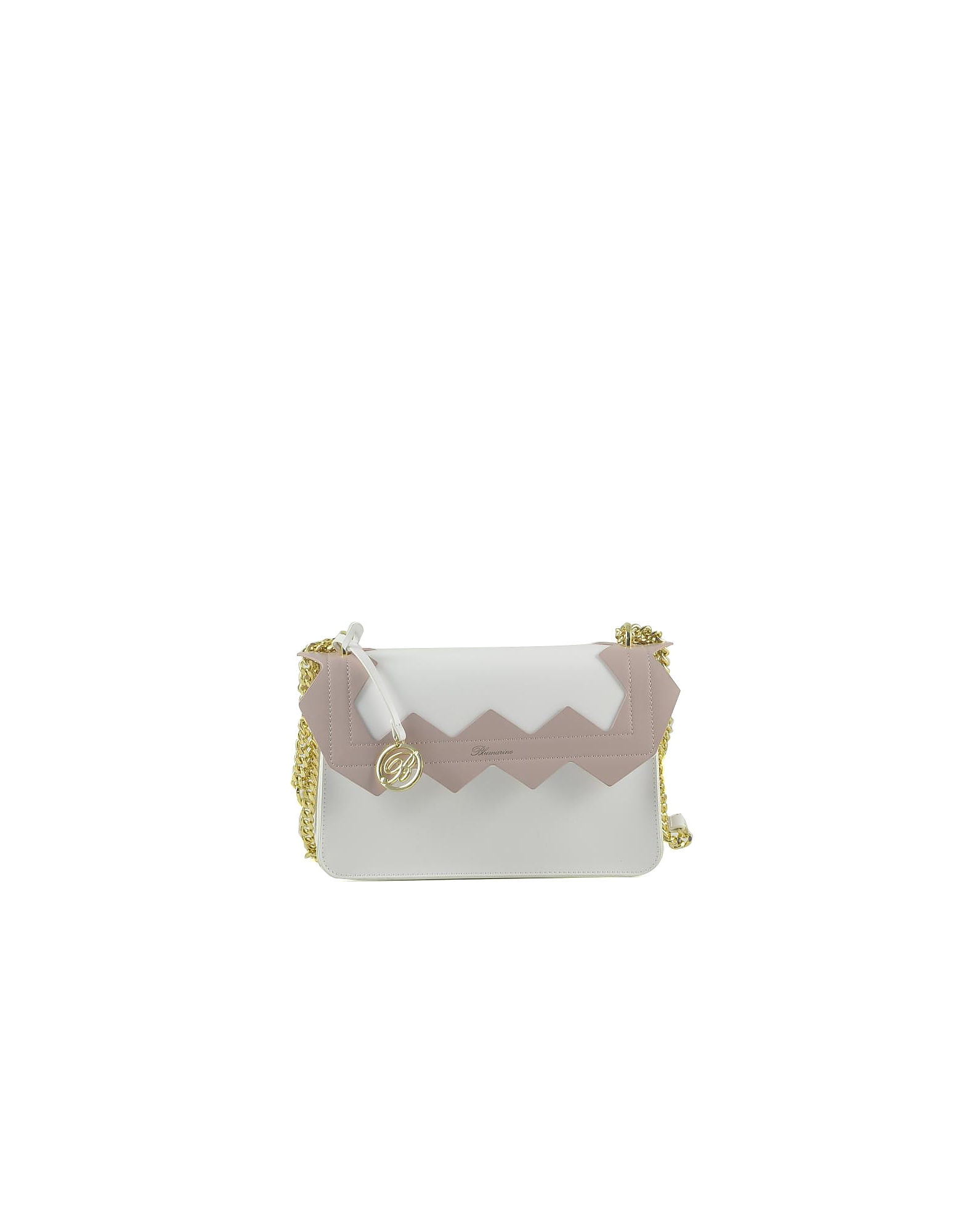 Blumarine Designer Handbags, Color Block Zig-Zag Shoulder Bag