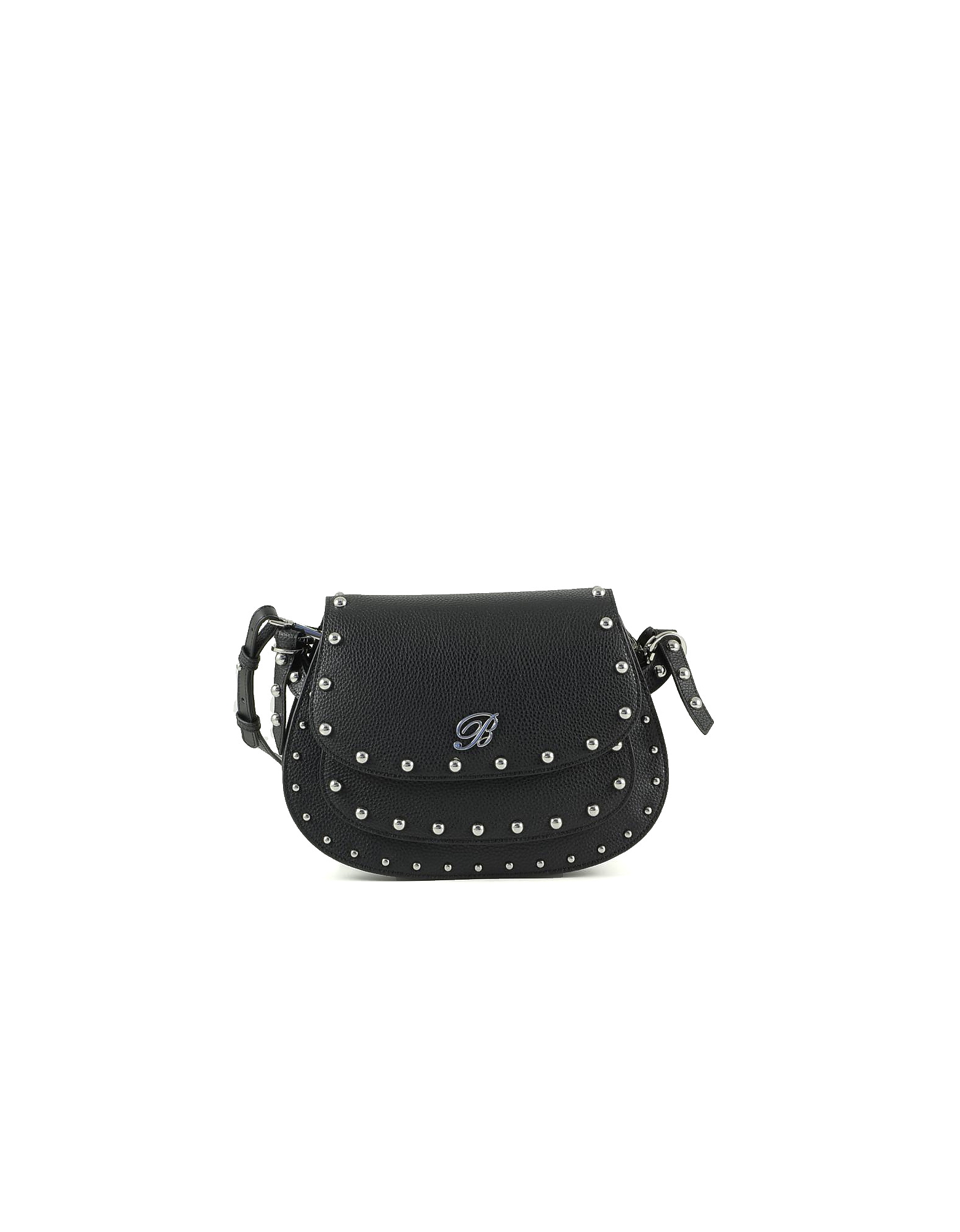 Blumarine Designer Handbags, Andrea Black Leather Crossbody Bag