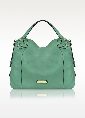 Large Green Eco Leather Tote - Blugirl