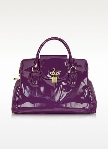 Patent Eco-Leather Satchel - Blugirl