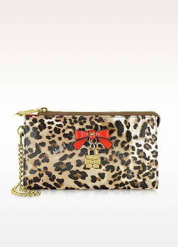 Animal Print Eco Leather Mini Clutch - Blugirl