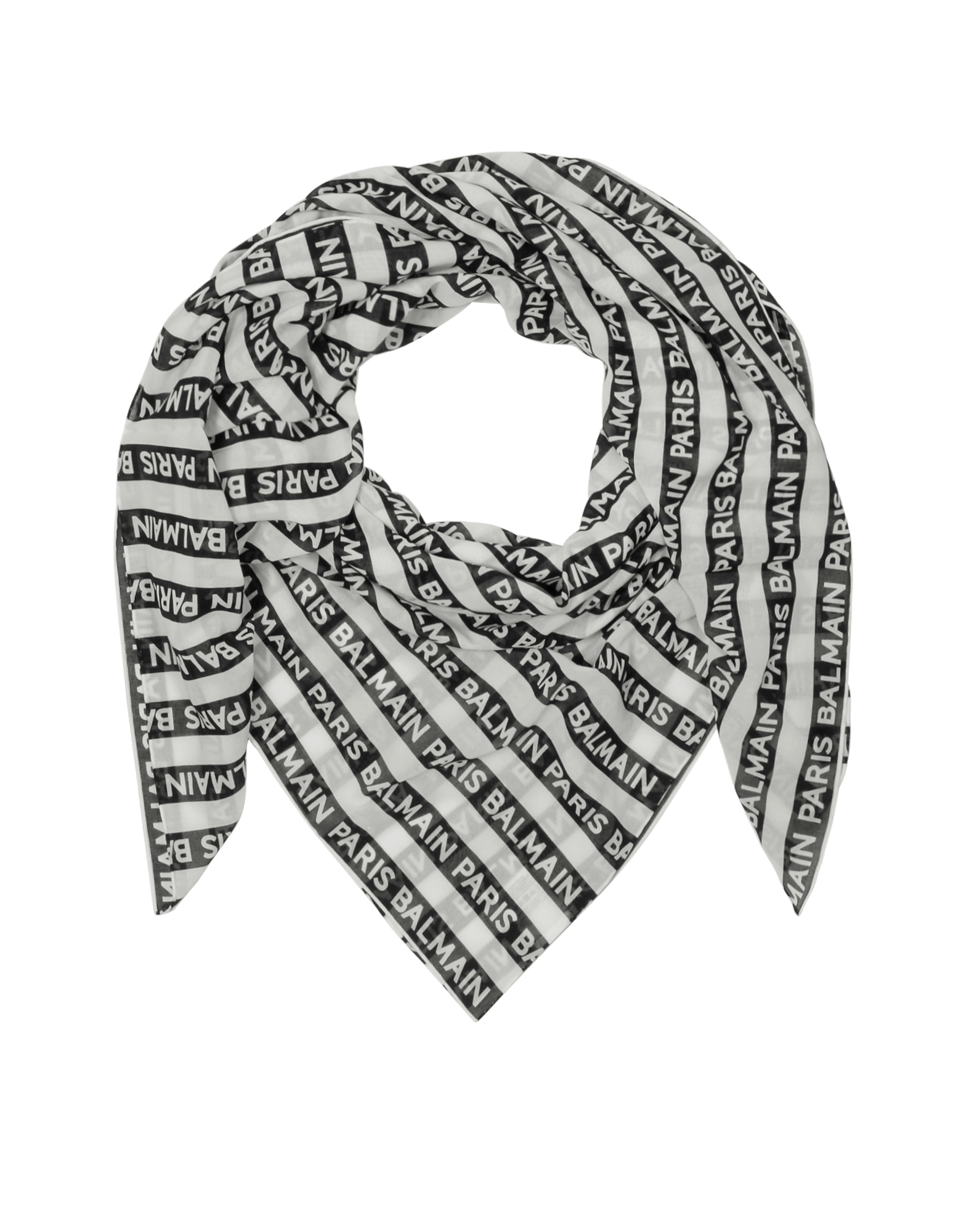 Kefiah in Cotone a Righe Black & White