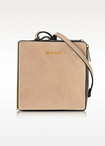 Pablito Nude Velvet Shoulder Bag - Balmain