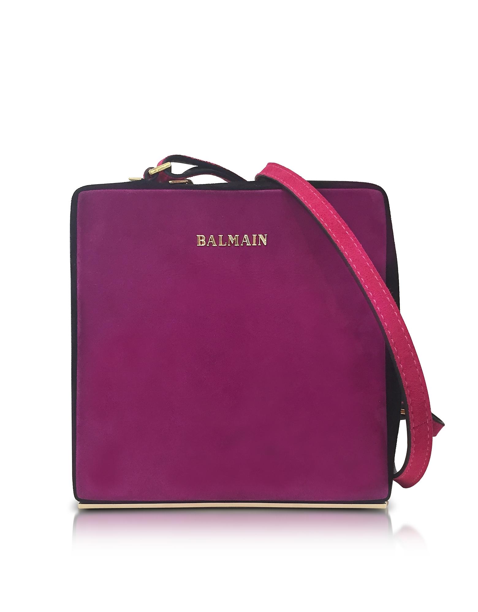Balmain Pablito - Фиолетовая Бархатная Сумка на Плечо