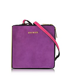 Pablito Purple Suede Shoulder Bag - Balmain