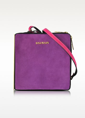 Pablito Purple Velvet Shoulder Bag - Balmain