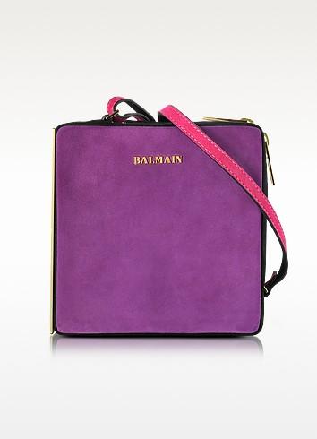 Pablito 紫色天鹅绒单肩包 - Balmain