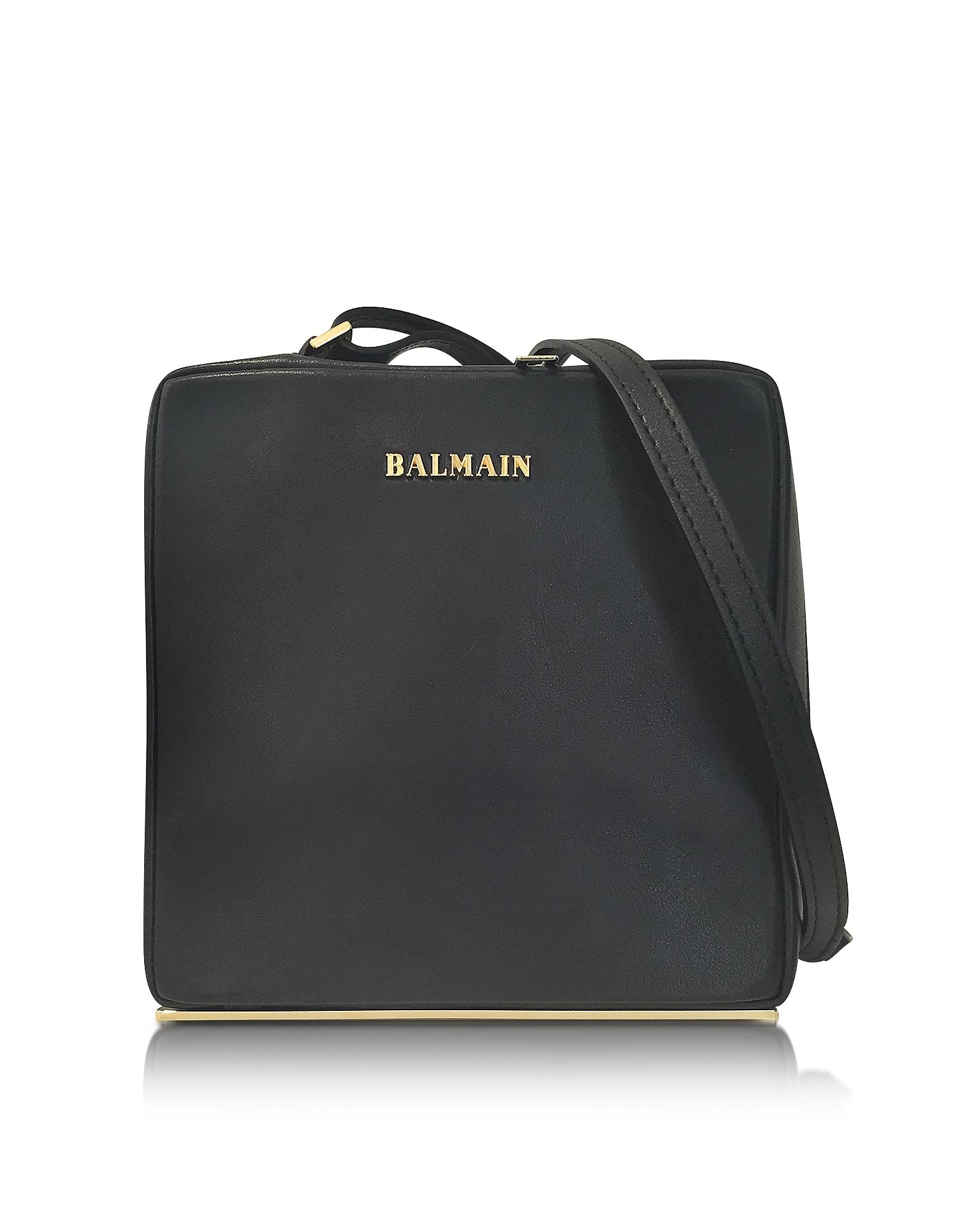 Balmain Pablito - Черная Кожаная Сумка на Плечо