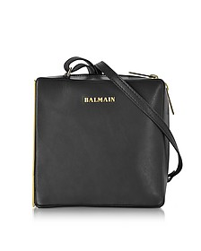 Pablito Black Leather Shoulder Bag - Balmain
