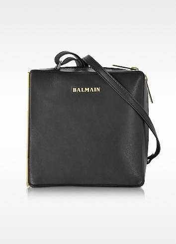 Pablito Black Leather Shoulder Bag - Balmain