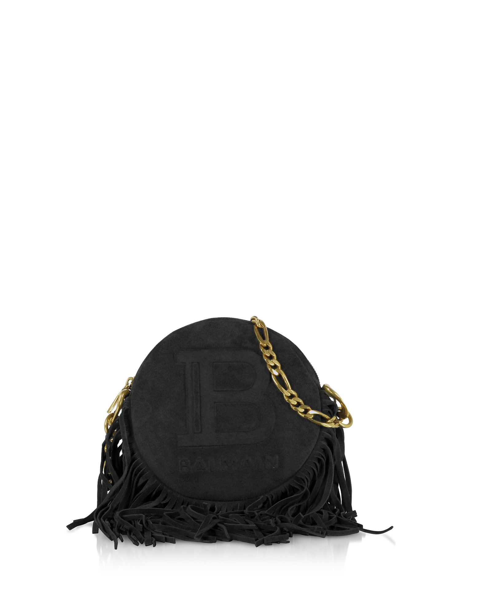Suede, Leather and Fringes 18 Disco Bag, Black