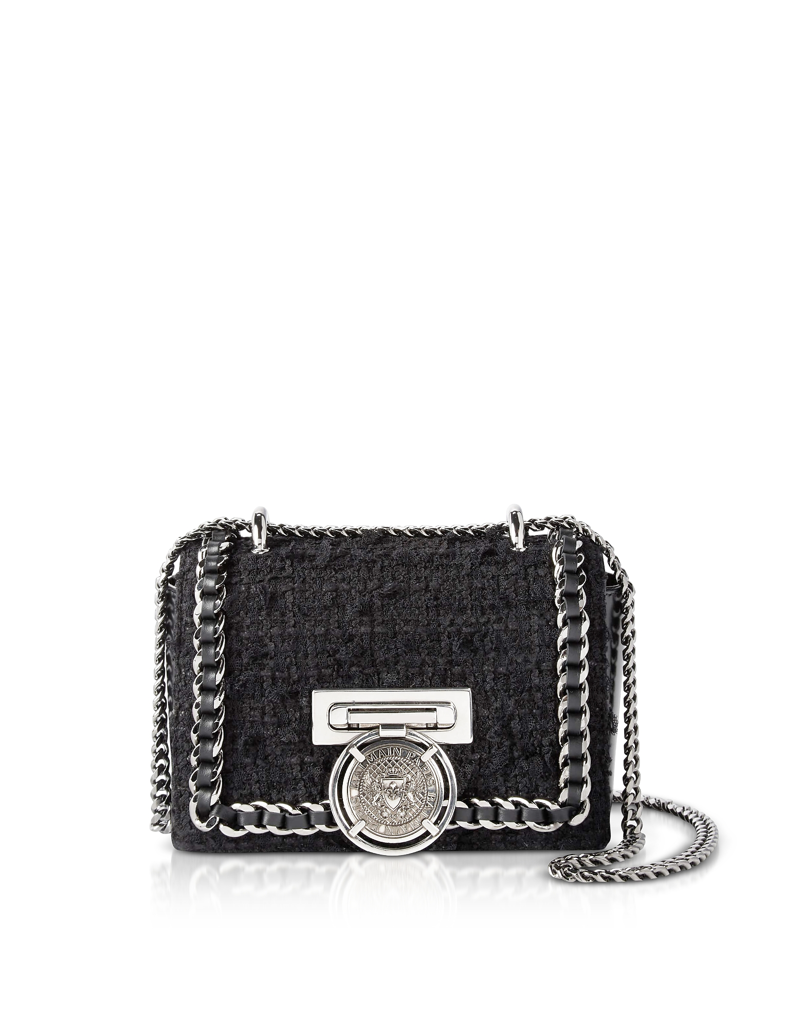 Baby B-BOX shoulder bag - Black Balmain bk6CtBC