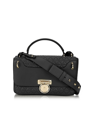 Renaissance 28 Glove Black Quilted Leather Satchel Bag
