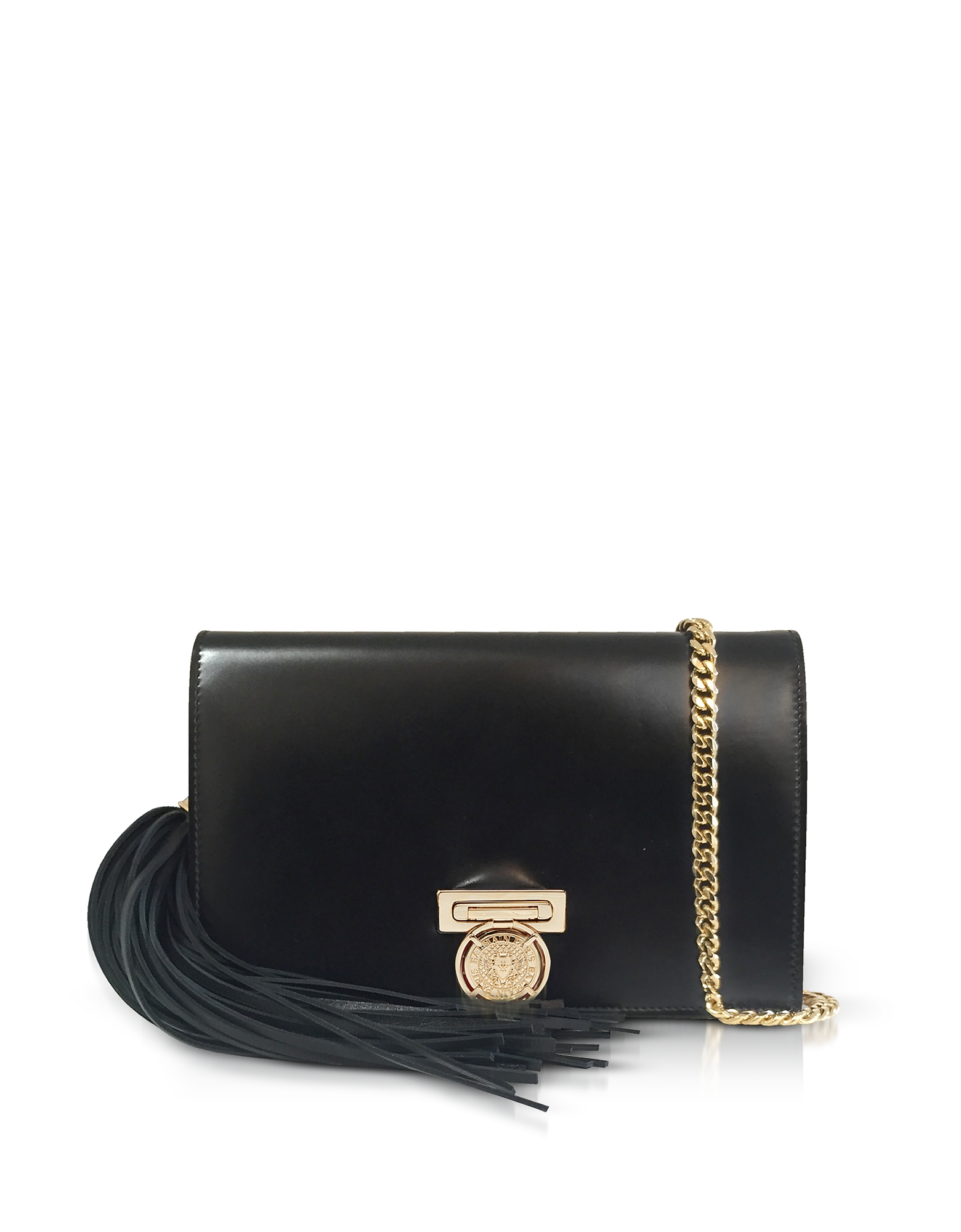 Black Leather Mini BBox Pochette