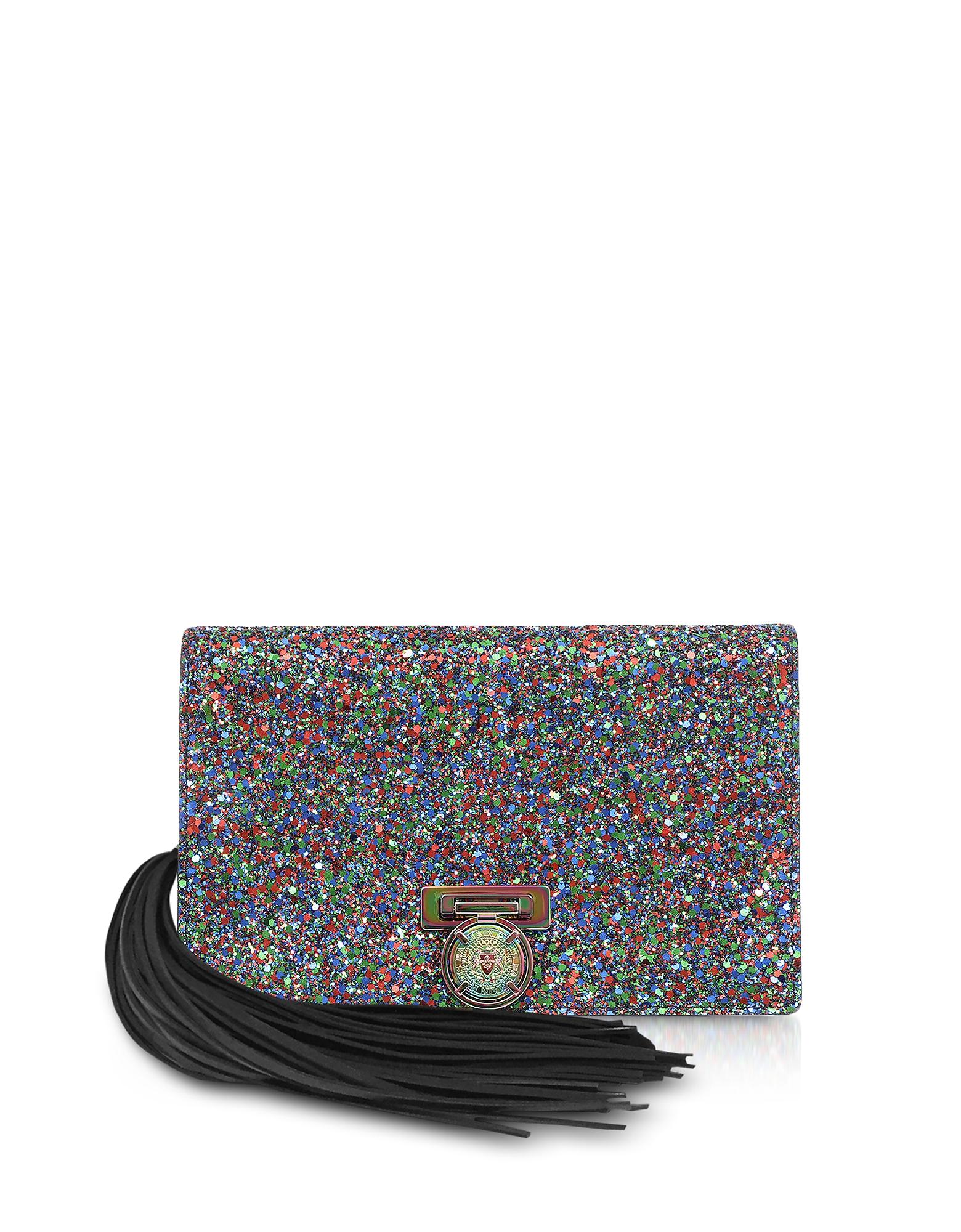 Balmain Handbags, Multicolor Glitter BBox Mini Pouch