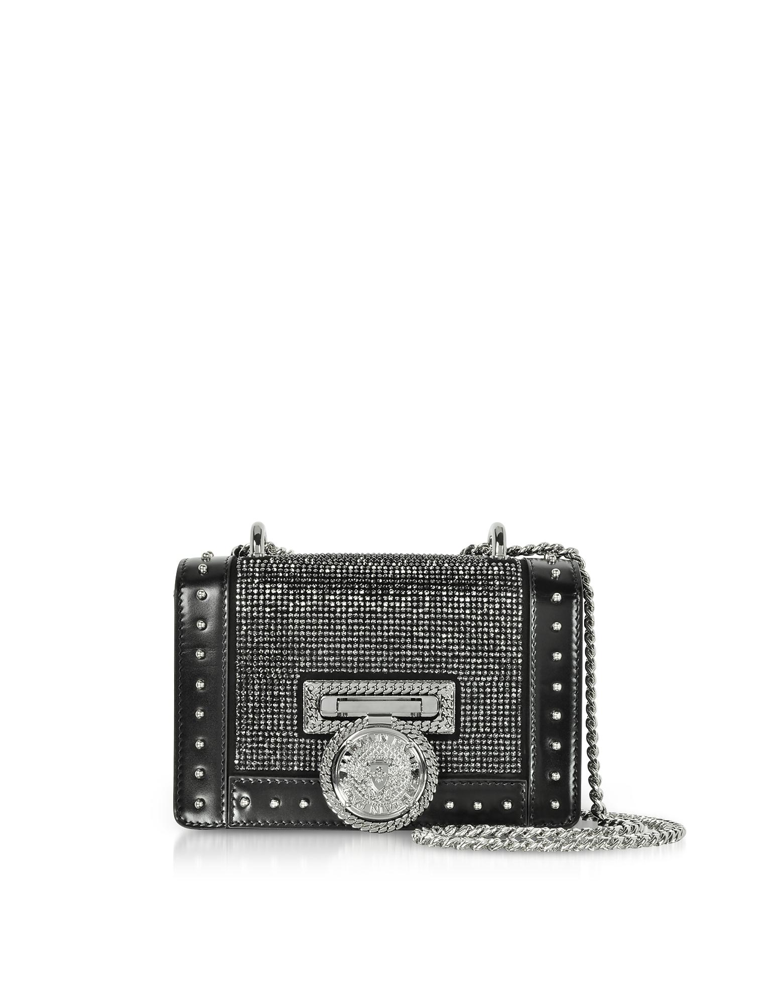 Baby Box Crystal & Leather Shoulder Bag