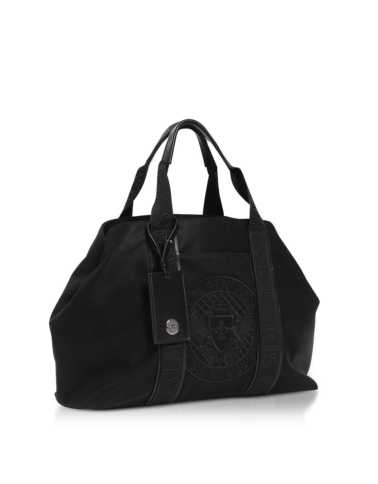 Black Nylon Men's Tote Bag от Forzieri.com INT