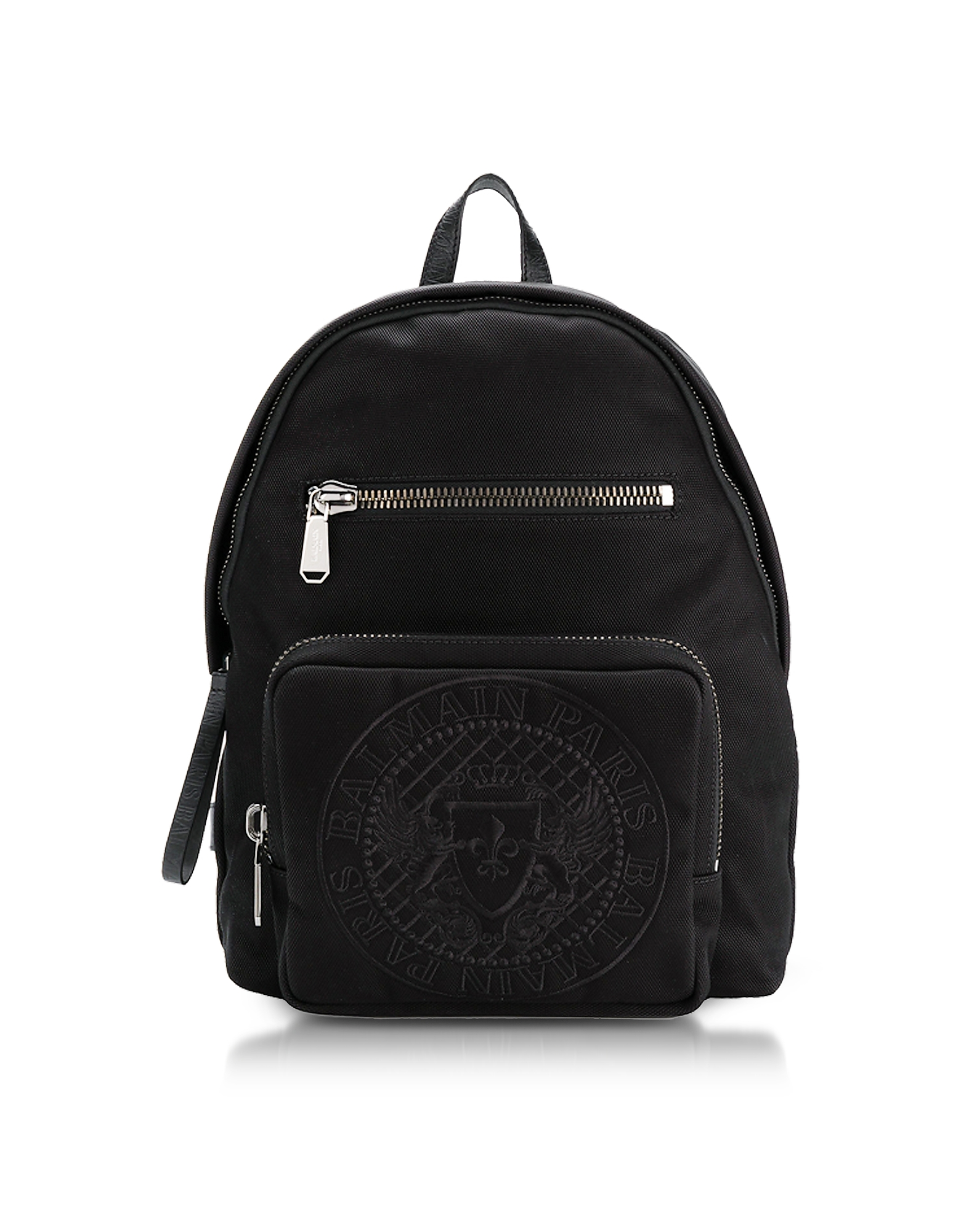 Black Nylon Men's Club Backpack w/Embossed Blazon от Forzieri.com INT