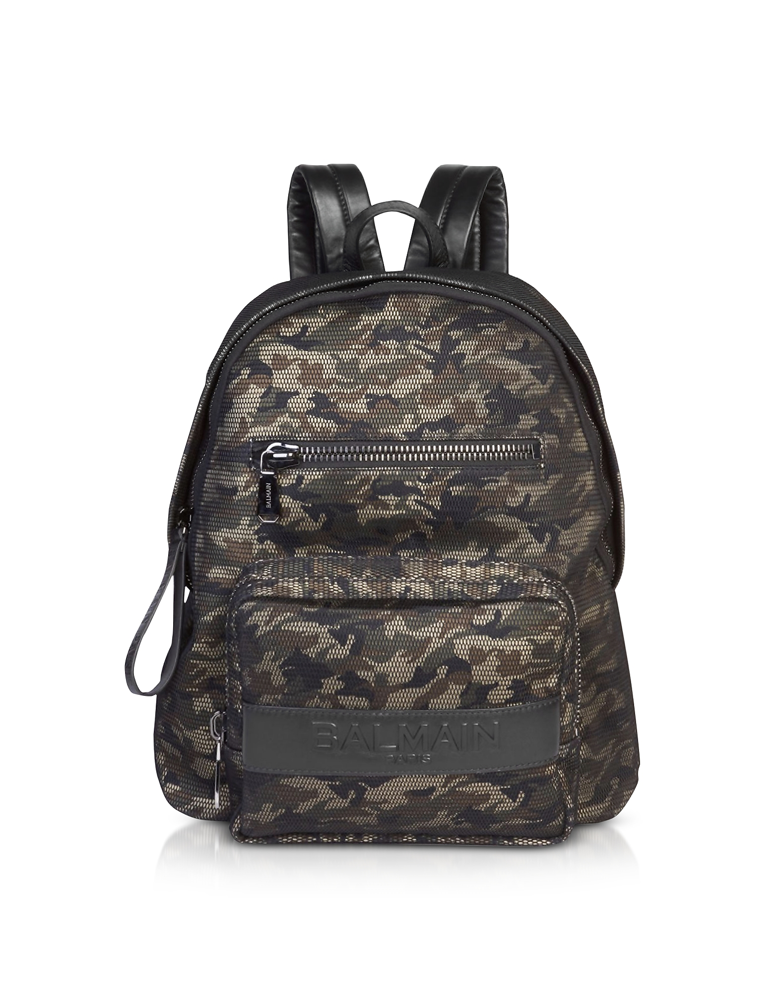 Military Green/Black Camouflage Nylon Men's Club Backpack w/Embossed Signature Logo от Forzieri.com INT