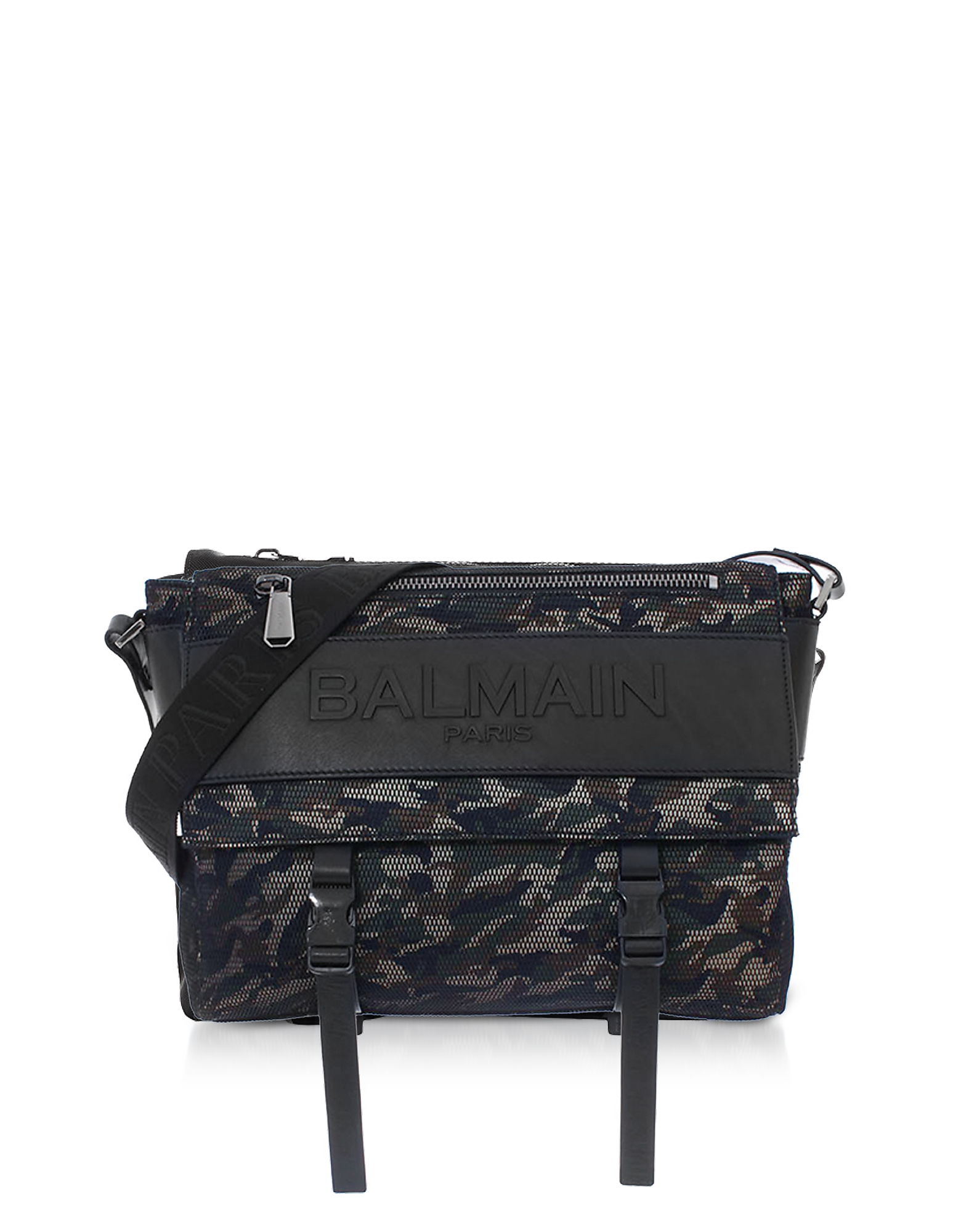 Military Green/Black Camouflage Nylon Men's Chuck Messenger Bag от Forzieri.com INT
