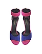Zia Multicolor Suede Wedge Sandal - Balmain