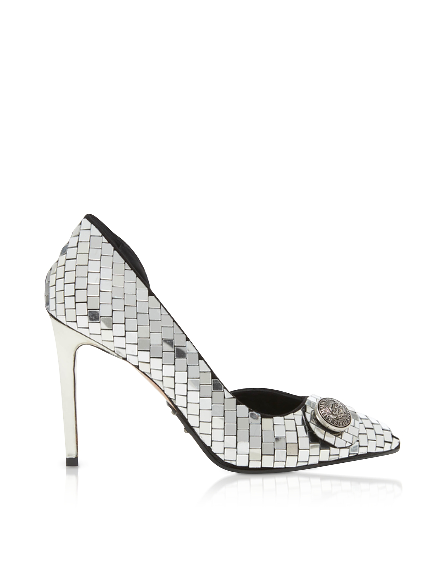 Balmain Designer Shoes, Mirror Leather 95MM Julie Pump